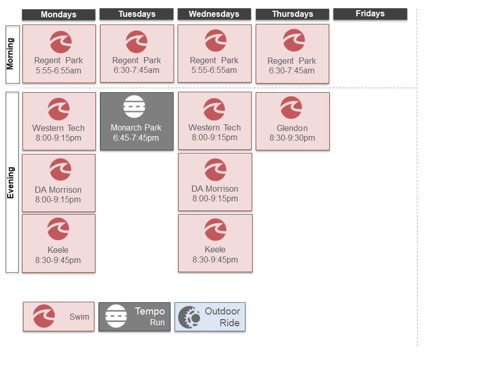 Workout Calendar | Toronto Triathlon Club Club Workout Calendar